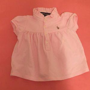 Ralph Lauren Pink Short Sleeve Shirt
